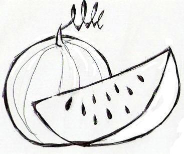 colorindo com a dry desenho de melancia e coco para imprimir e colorir