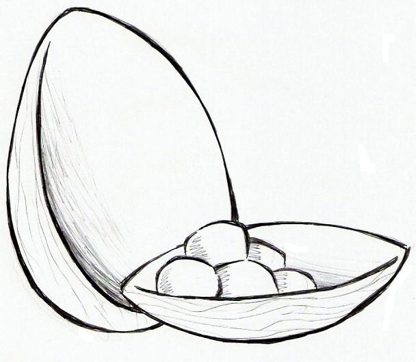 colorindo com a dry desenho de ovo de chocolate ovo da pascoa para