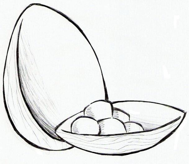 desenho de ovo de chocolate ovo da pascoa para pintar desenhos