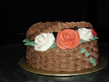 Basketweave cake