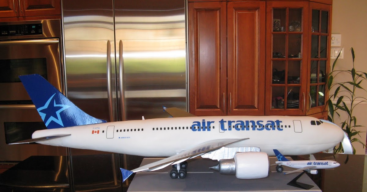 G teaux design gatau avion air transat air transat for Avion air transat interieur