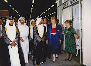 Dubai 1988, a Trónörökös, Őfelsége Sheikh Mohammed megnyitja a Magyar kiállítást