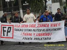 Conmemorando 91 años de la muerte de Zapata y Protestando por la politica del mal gobierno