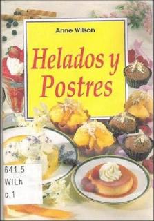 Portada de la Revista: Helados y Postres - Anne Wilson