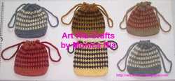 Crochet Mini Bag B by Monica Ria
