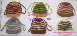 Crochet Mini Bag C by Monica Ria