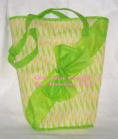 Green Jinjing Goody Bag - Art Ria Crafts by Monica Ria