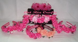 Flower Headbands - Art Ria Crafts by Monica Ria