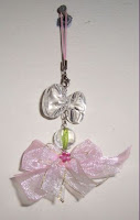 Pinky Ribbon Mobile Hanger by  Monica Ria