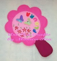 Flower Handfan by Monica Ria