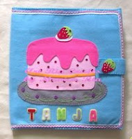Strawberry Cake File Cover 4 Tanja by Monica Ria