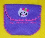 Kitty Mini Wallet - Art Ria Crafts by Monica Ria