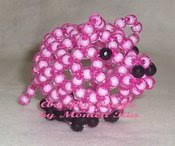 Piggy Beaded Puppet - Art Ria Crafts by Monica Ria