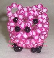 Piggy Beaded Puppet 2 - Art Ria Crafts by Monica Ria