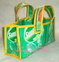 Sunlight Mini Recycle Bag - Art Ria Crafts by Monica Ria