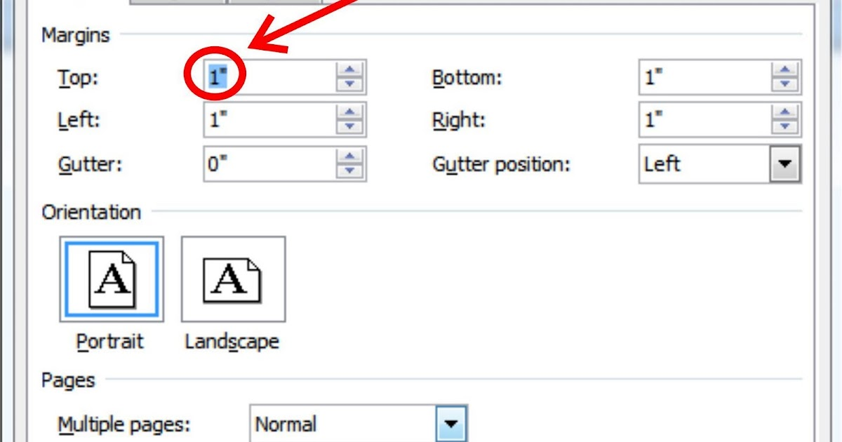 how to change in cm to inches on word