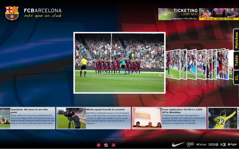 أروع شاشة توقف لعشاق فريق برشلونة على الخصوص و محبي الكرة الخيالية بصفة عامة