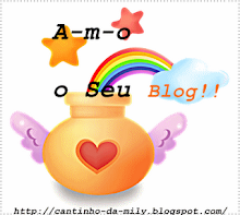 Sello Amo seu blog.