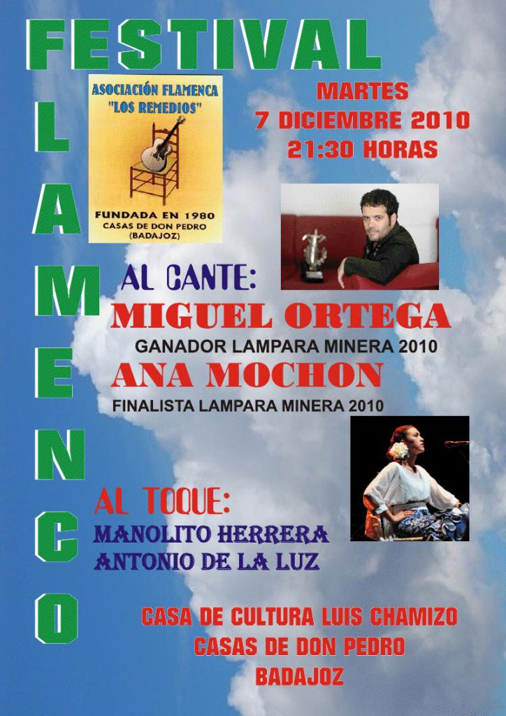 Festivales flamencos miguel ortega y ana moch n en el festival casas de de don pedro casa - Casas de don pedro badajoz ...
