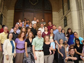 CNMC attendees on the steps of St. Mary's