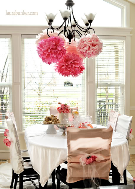 Birthdays on a budget pink princess party for Tea party decoration ideas