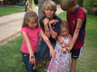 4 MYLAR Airbrush Tattoo Stencils for Kids, non-adhesive, K01M