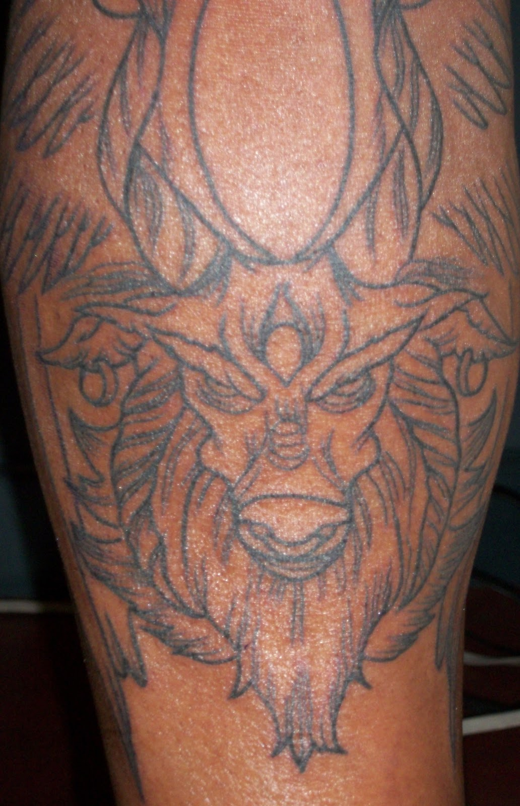 Evil goat tattoo - photo#5