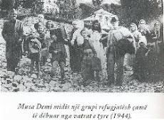 Nje grup refugjatesh çame