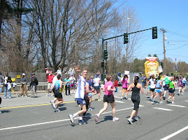 At mile 17 in the Boston Marathon