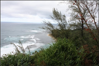 Ke'e beach view from trail