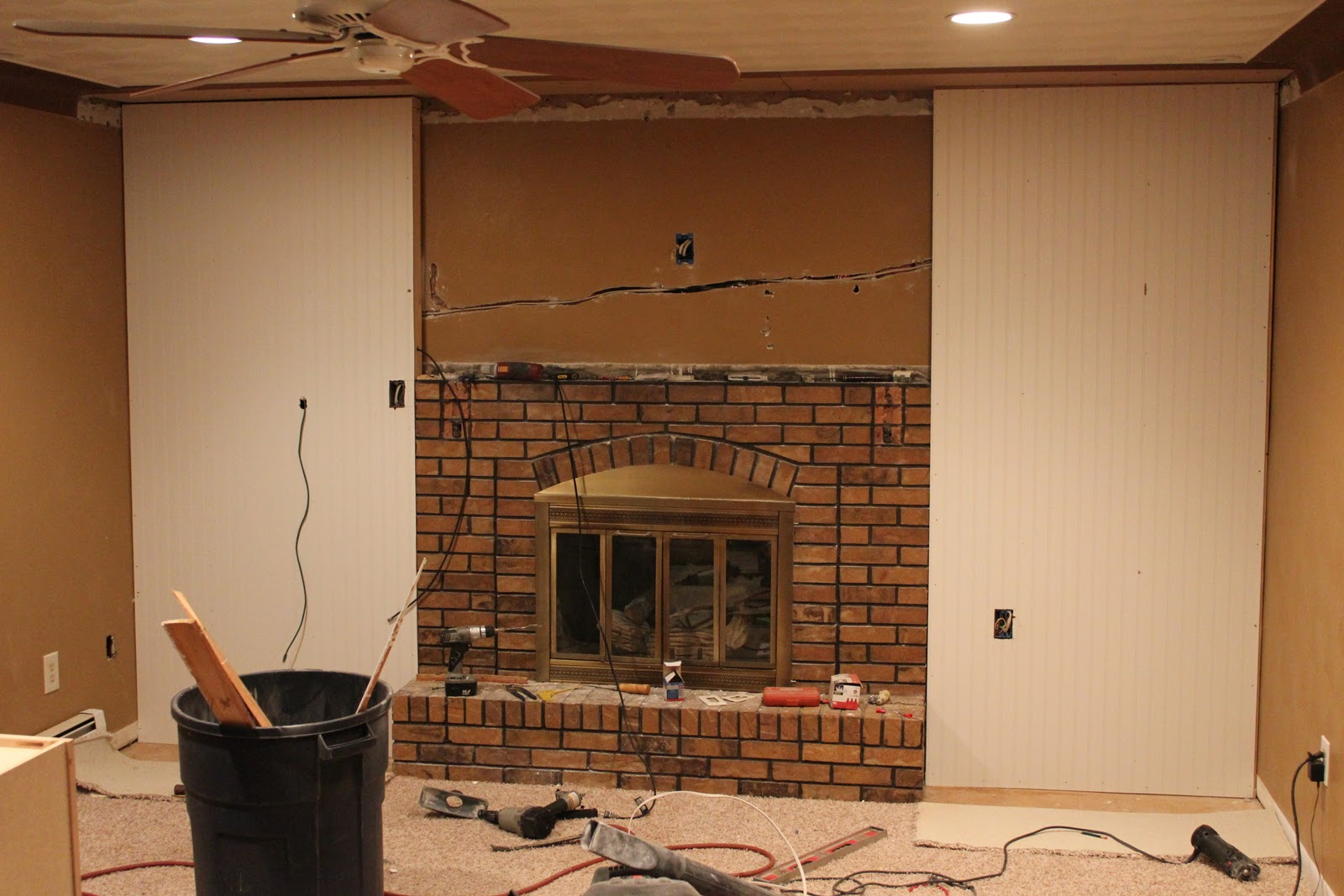 first class fireplace makeover diy show off diy decorating