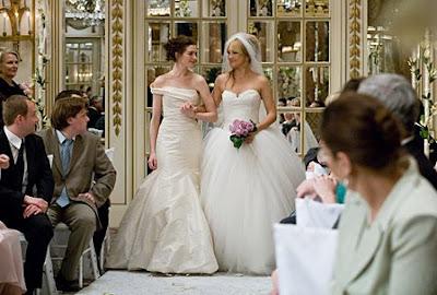 wedding dresses from Bridal Wars (starring Kate Hudson and Anne Hathaway,mermaid wedding dress style, ball gown wedding dress style