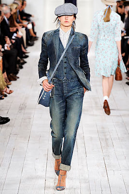 denim three piece suit from ralph lauren's spring summer 2010 collection