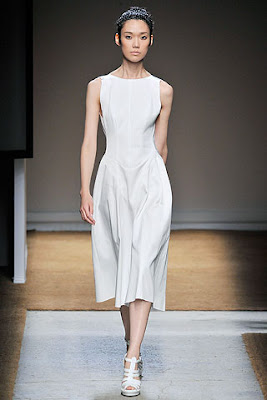 white dress, white cocktail dress, yves st laurent spring summer collection