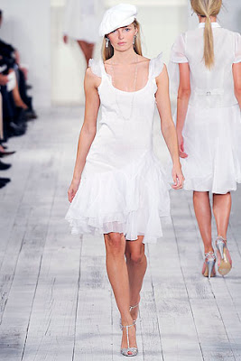 white dresses, white summer dress,ralph lauren spring summer 2010