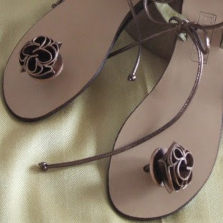 leather sandals, handmade leather sandals, rose sandals