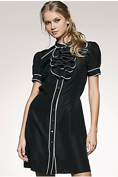 Miss Selfridge ruffle front dress with trim detail,Ruffle Dresses, Frill Dresses