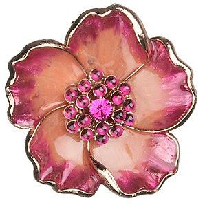 enamel flower brooch, floral brooch, floral jewellery, flower jewellery