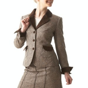 Tweed and Velvet Jacket by Anne Weyburn, ladies workwear