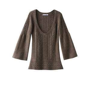 autumn look in muted colours, autumn sweater