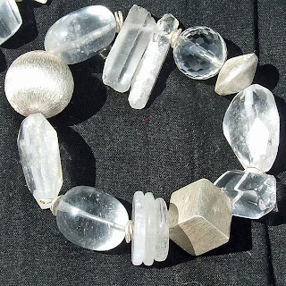 rock crystal bracelet,semi precious bracelet