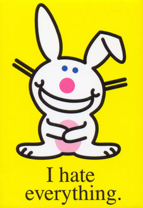 funny bunny. happy bunny quotes and sayings