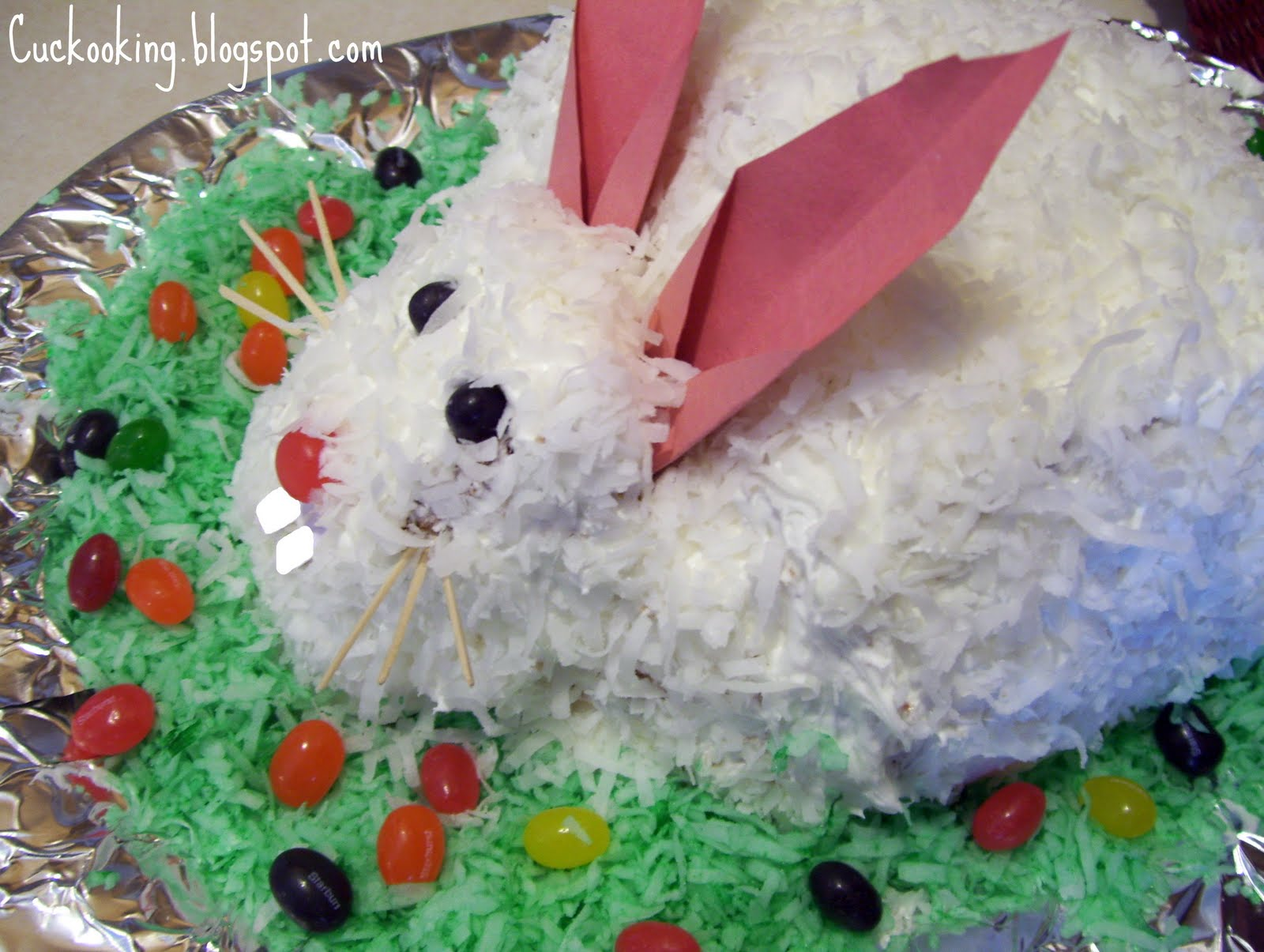 Cooking Creation: Easter Bunny Cake