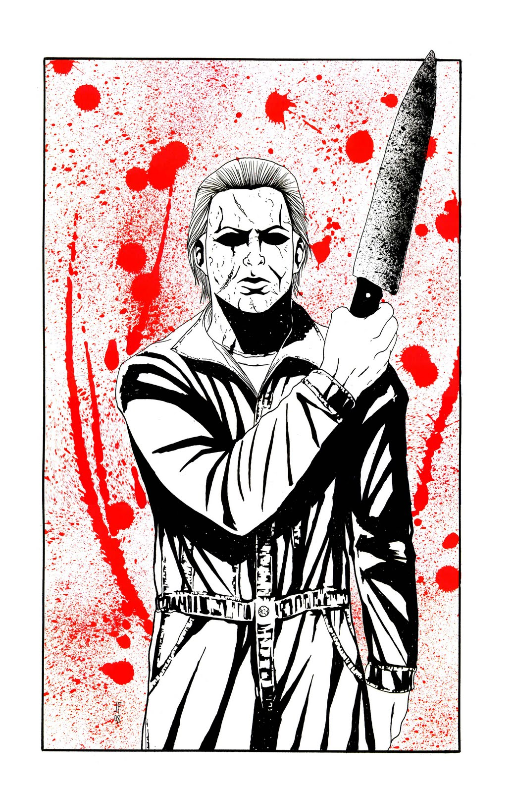 michael myers coloring pages - photo#15