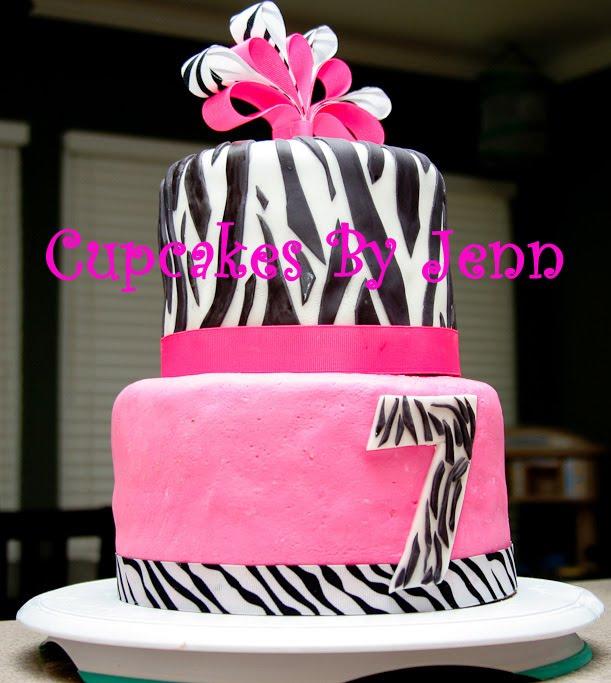 Dotti Mae Cupcakes: Hot Pink Zebra Cake