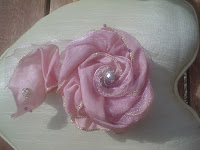 rose en tissu