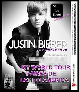 Justin Bieber World Tour on En Donde S   Ir   Justin Bieber En Su    My World Tour 2011