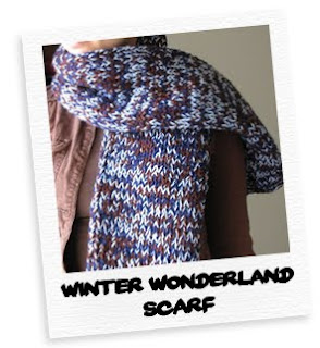 winter wonderland chunky scarf