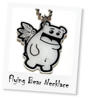 flying bear necklace