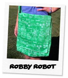 robby robot messanger bag